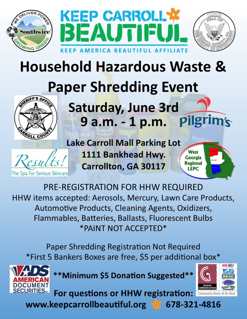 HHW & Paper Shredding Flyer