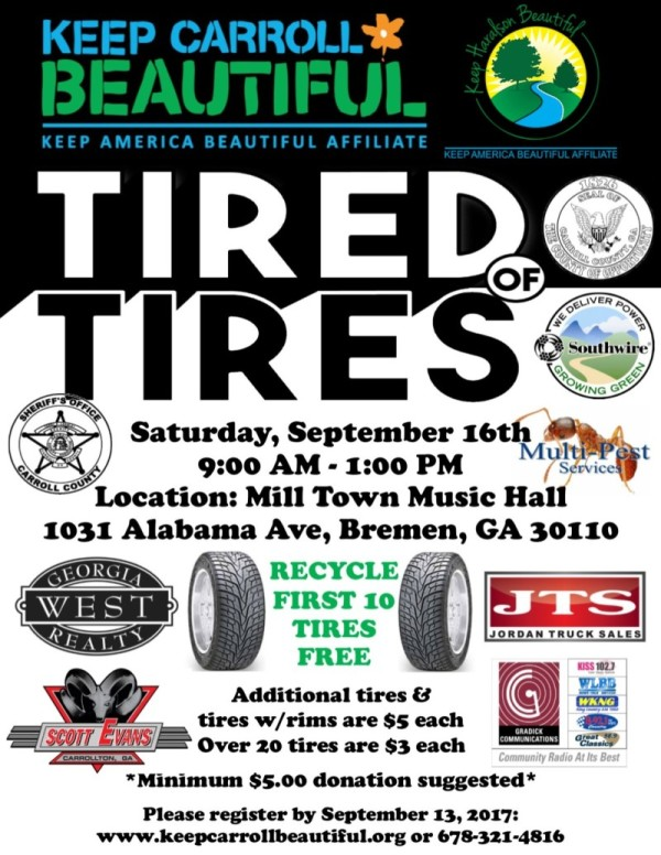 Tire Recycling Flyer Fall 2017